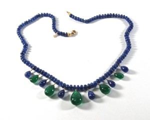 #2024 Sapphire and emerald necklace